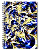 Party Time Abstract Spiral Notebook