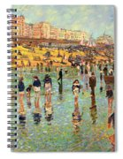 Passing Time On Brighton Beach Spiral Notebook