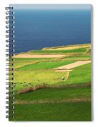 Pastures And Lighthouse Spiral Notebook