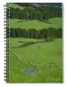 Pastures In Azores Islands Spiral Notebook