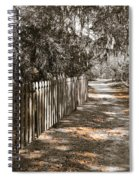 Path Along The Fence Spiral Notebook