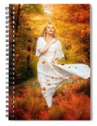 Path Of Fall Spiral Notebook