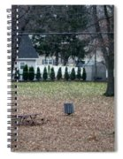 Patio View Of An Autumn Day Spiral Notebook