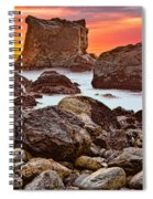 Patrick's Point Sunset Seastacks Spiral Notebook