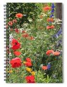 Patriotic Flowers Spiral Notebook