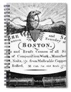 Paul Revere: Trade Card Spiral Notebook
