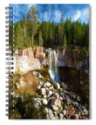 Paulina Falls At Newberry Spiral Notebook