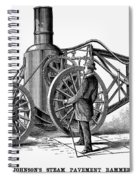 Paving Machine, 1879 Spiral Notebook