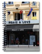 Peace And Love Hostel Spiral Notebook