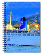 Peace Boat Along South America Coastline Spiral Notebook
