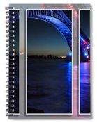Peace Bridge 01 Triptych Series Spiral Notebook