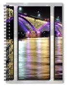 Peace Bridge 02 Triptych Series Spiral Notebook