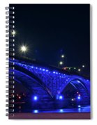 Peace Bridge At Night Spiral Notebook