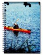 Peaceful Canoe Ride Ll Spiral Notebook