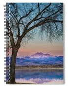 Peaceful Early Morning Sunrise Longs Peak View Spiral Notebook