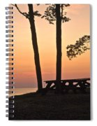 Peaceful Evening Picnic 7109 Spiral Notebook