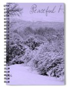 Peaceful Holidays To You Spiral Notebook