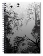 Peaceful Shades Of Gray Spiral Notebook