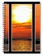 Peaceful Sunset Triptych Series Spiral Notebook