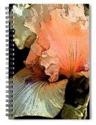 Peach Iris Digital Art Spiral Notebook