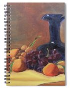Peaches And Blue Pitcher Spiral Notebook