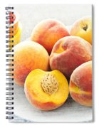 Peaches On Plate Spiral Notebook
