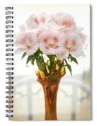 Peachy Gladiolas Spiral Notebook