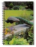 Peacock In Formal Garden, Kilmokea, Co Spiral Notebook