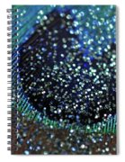 Peacock With Bling Spiral Notebook