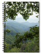 Peak At The Mountains Spiral Notebook
