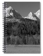 Peaks Near Schwangau In The Bavarian Alps Spiral Notebook