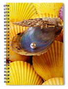 Pearl In Oyster Shell Spiral Notebook