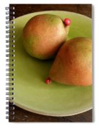 Pears On Heart Plate Spiral Notebook