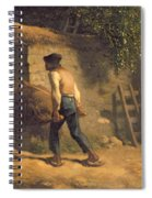 Peasant With A Wheelbarrow Spiral Notebook