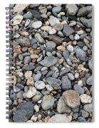 Pebble Beach Rocks, Maine Spiral Notebook