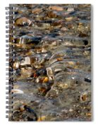 Pebbles And Shells By The Sea Shore Spiral Notebook