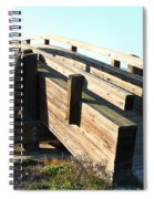 Pedestrian Bridge At Martinez Regional Shoreline Park In Martinez California . 7d10513 Spiral Notebook