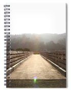 Pedestrian Bridge At Martinez Regional Shoreline Park In Martinez California . 7d10534 Spiral Notebook