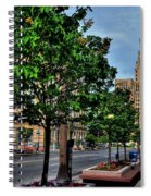 Pedestrian View Of City Hall Horizontal  Spiral Notebook