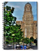 Pedestrian View Of City Hall Vert Spiral Notebook