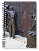 Peeking At Baseball Game Sculpture Spiral Notebook