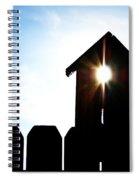 Peeking Sunlight Through A Birdhouse Spiral Notebook