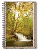 Peeling Window Waterfall Nature View Spiral Notebook