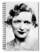 Peggy Wood (1892-1978) Spiral Notebook