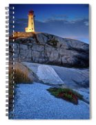 Peggys Cove Lighthouse Nova Scotia Spiral Notebook