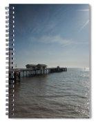 Penarth Pier Sun Spiral Notebook