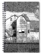 Pencil Sketch Barn Spiral Notebook