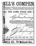 Penmanship Ad, 1887 Spiral Notebook