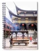 People At The Buddhist Temple Spiral Notebook