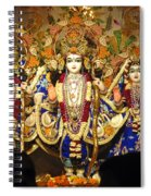 People Offering Prayers At The Iskcon Temple In Delhi Spiral Notebook